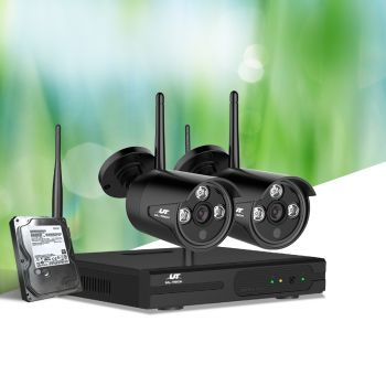 UL-tech CCTV Wireless Security Camera System 4CH  Home Outdoor WIFI Cameras Kit 1TB