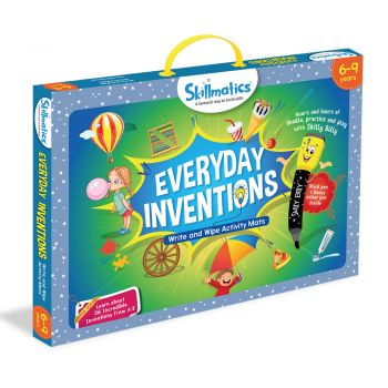 Skillmatics Everyday Inventions - Learn With Fun - 26 Repeatable Write & Wipe Educational Activity Games For Children