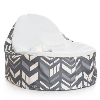 Chibebe Chevron Baby Bean Bag - Stone