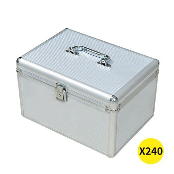 240 Discs Aluminium CD DVD Cases Bluray Lock Storage Box