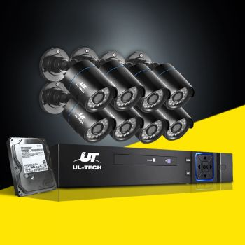 ULtech Outdoor CCTV Camera Security System 2MP IP 1TB Hard Drive 8CH 1080P