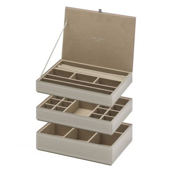 Stackable Jewellery Box Set - Grey
