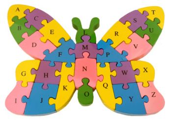 Wooden Animal Puzzle - Butterfly