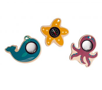 Sea Creature Compass & Magnifying Glasses