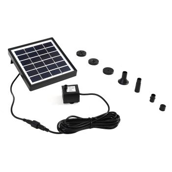 Solar Powered Outdoor Water Fountain Garden Pond Pump Kit