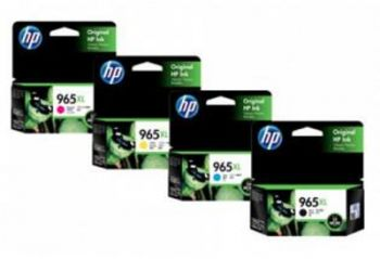 HP No. 965XL Bundle Pack - one of each- Black Estimated page yield 2000 pages - Cyan Magenta Yellow Estimated page yield 1600 pages each