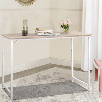 Office Computer Desk Study Laptop Metal Table Student Home Work White
