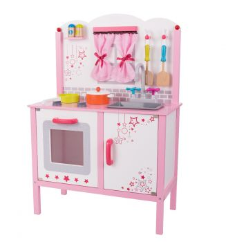 Wooden Pink Play Kitchen