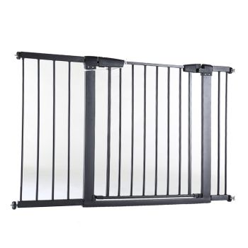 Safety Stair Barrier Gate for Pets and Babies 76cms Tall in Black