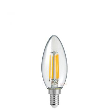 6W Candle Dimmable LED Bulb (E14) Small Edison Screw Clear in 2700k Warm White