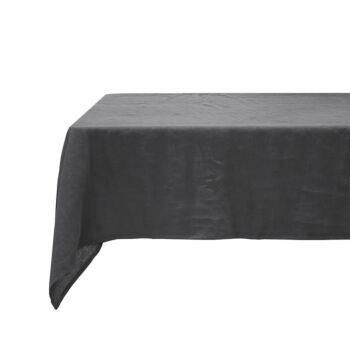 Linen Tablecloth 150x275cm Charcoal