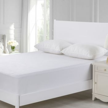 Dreamaker Cotton Terry Towelling Waterproof Mattress Protector Super King Bed