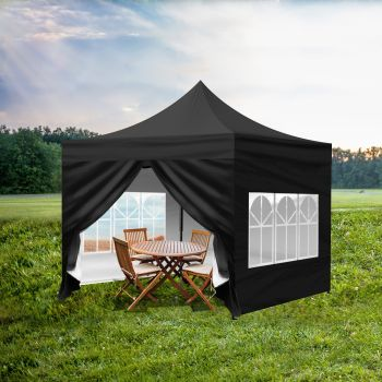 Mountview Gazebo 3x3m Pop Up Marquee Wedding Tent Outdoor Camping Canopy Party