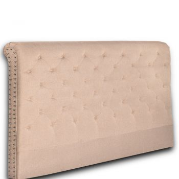 Levede Upholstered Fabric Bed Headboard in King Size in Beige Colour