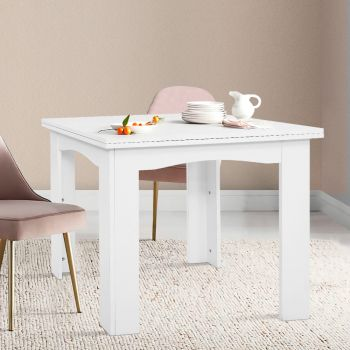 Artiss Extending Dining Table 6 Seater Wooden Kitchen Tables White Cafe
