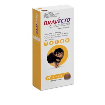 Bravecto Dog 3-Month Single Chew for Flea & Tick Control
