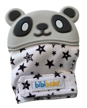 BibiMitt Panda Teething Mitts - Grey