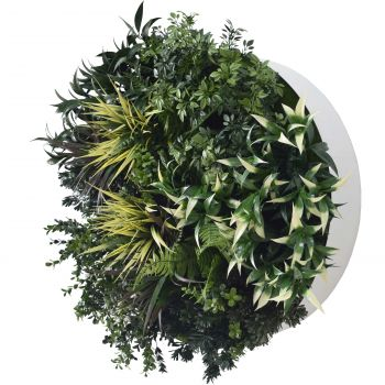 UV Green Fields 80cm Green Wall Disc (White)