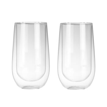 Sherwood Home Double Wall Coffee Glass  - Set Of 2 X 400Ml Cups