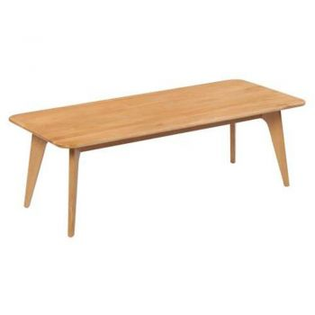 6IXTY Oak Scandinavian Rectangular Coffee Table - 130cm