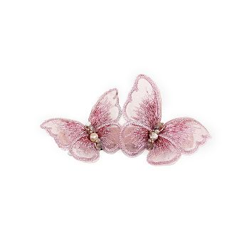 Evalina Twin Energy Butterfly Hair Clip in Pink