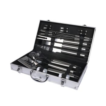Outdoor Stainless Steel BBQ set 18 Pcs