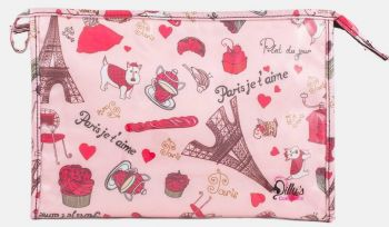 Paris Print Large Cosmetic Bag