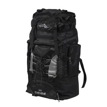 Military Travel Camping Backpack 80L in Black Colour