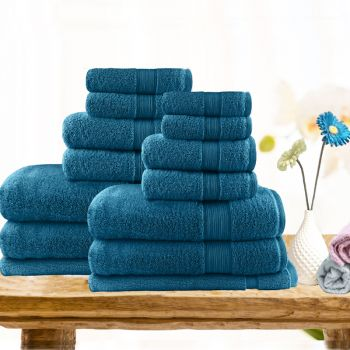 14 Piece Ultra-light Cotton Bath Towel Set
