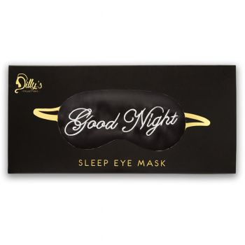 Goodnight' Print Satin Eye Mask