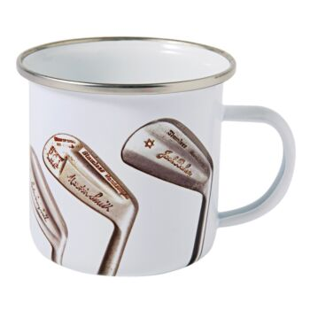 Vintage Signature Golf Clubs Enamel Mug