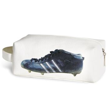 Three Stripe Boot Toilet Bag - White