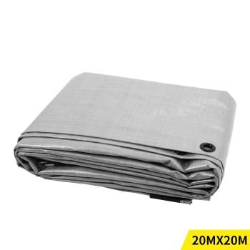 6.1x6.1M Heavy Duty PE Poly Tarps Camping Cover 200gsm