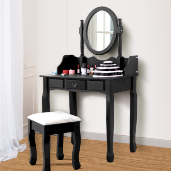 Levede Dressing Table Stool Makeup Mirror Jewellery Organizer Drawer Cabinet