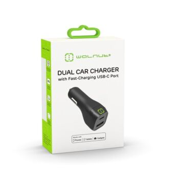 Dual Car Charger with Fast-Charging USB-C Port