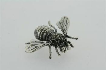 Bee brooch - sterling silver
