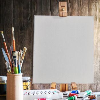5x Blank Artist Stretched Canvas Canvases Art White Oil Acrylic Wood 70x100cm