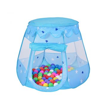 Ball Pit Play Tents for Kids 6-sided Playhouse for Children Indoor Outdoor Tent