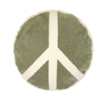 Peace Round Cushion 45cm Sage