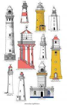 Tea Towel - Australian Lighthouses