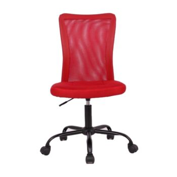 Andra Ergonomic Mesh Low Back Office Chair - Red