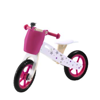 BoPeep Kids Outdoor Wooden Balance Ride On Bicycle Toy