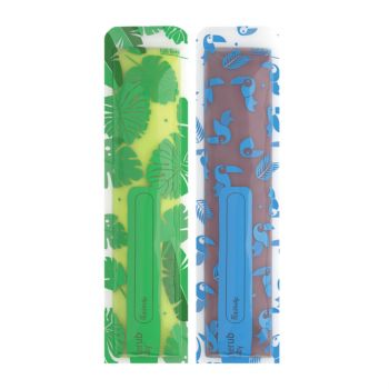Reusable Freeze n Squeeze Ice Pop Pouches -Toucan Blue & Rainforest Green 20pk