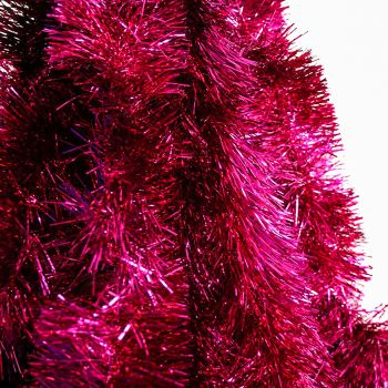 50M Christmas Tinsel Hot Pink 150mm 8 Ply