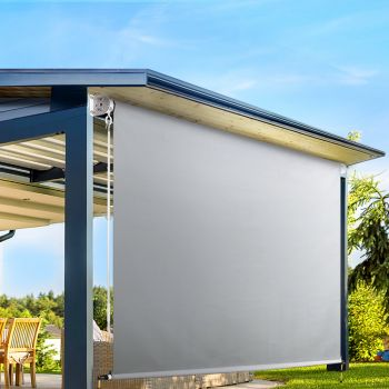 Instahut Retractable Straight Drop Roll Down Awning Patio Roller Shade 3.0X2.5M