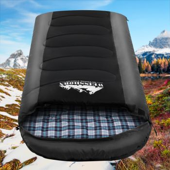Weisshorn Sleeping Bag Bags Single Camping Hiking 20 degree to 10 degree Tent Winter Thermal Grey