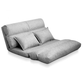 Lounge Sofa Bed 2 Seater Floor Recliner Chaise Chair Folding Adjustable