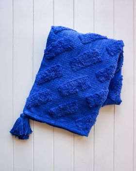 Throw Blanket - Bondi - Royal Blue - 125x150