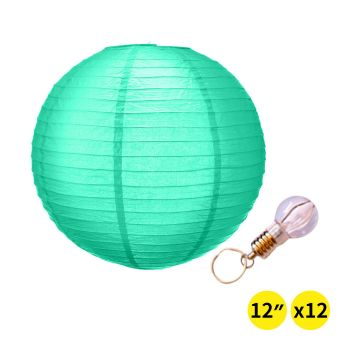 """12"""" Paper Lanterns for Wedding Party - Green Colour"""