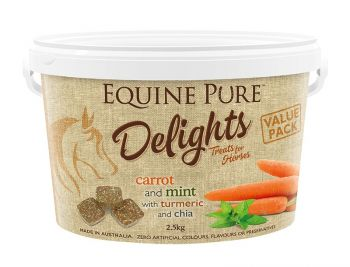 EQUINE PURE DELIGHTS CARROT MINT TURMERIC CHIA 2.5KG